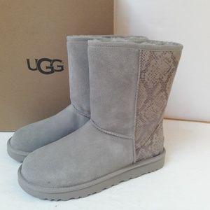 New UGG Classic Short Metallic Snake boots